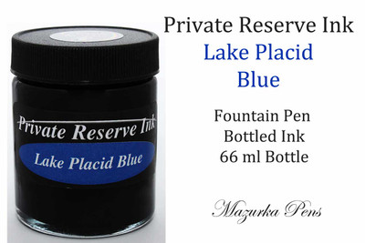Private Reserve Fountain Pen Liquid Bottled Ink - Lake Placid Blue