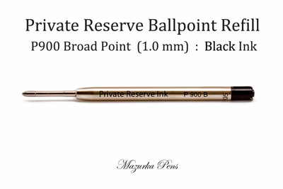 Parker Style Ballpoint Pen Refill - Private Reserve Ink - Broad Point (1.0 mm), Black Ink