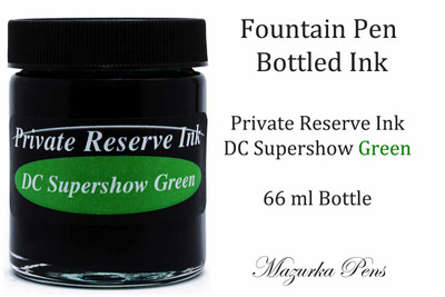 DC Supershow Green Private Reserve Ink - 66ml bottle