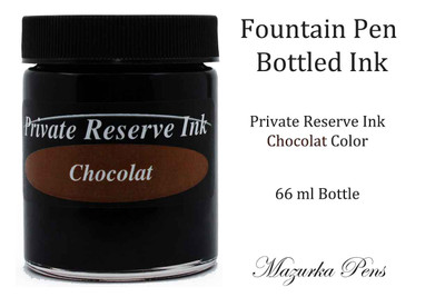 Private Reserve Fountain Pen Liquid Bottled Ink - Chocolat color