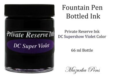 DC Supershow Violet Private Reserve Ink - 66ml bottle