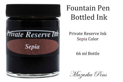 Private Reserve Ink - Sepia color, 66 ml bottled liquid fountain pen ink