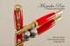 Red Glow Resin Rollerball Pen