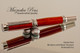Hand Made Rollerball Pen made from Afzelia wood with Rhodium and Black Titanium Finish