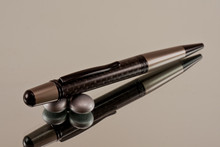Handmade pen made from Black Carbon Fiber with Black / Black Chrome finish.  Handcrafted pen.