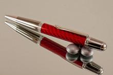 Red Carbon Fiber Resin Ballpoint Pen Black Titanium/Platinum