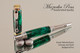 Handmade Writing Instrument Green Nebula Chrome and Gold Finish