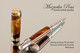 Handcrafted wood pen made from Honduran Rosewood Burl with Chrome and Gold finish.