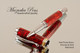 Handmade Rollerball Red Flame Resin Chrome and Gold Finish