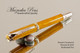 Handmade Rollerball made from Desert Ironwood with Chrome and Gold color accents.