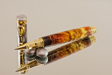 Super Nova Resin Chrome and Gold Rollerball