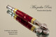 Handmade Ballpoint Pen, Cranberry Jam, Gold and Chrome Finish