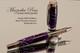 Purple & White Resin Rollerball with Black Titanium Finish
