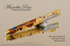 Blue and Golden Burl Rollerball Pen