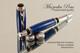 Azurite & Malachite TruStone Rollerball Pen Chrome and Black accents
