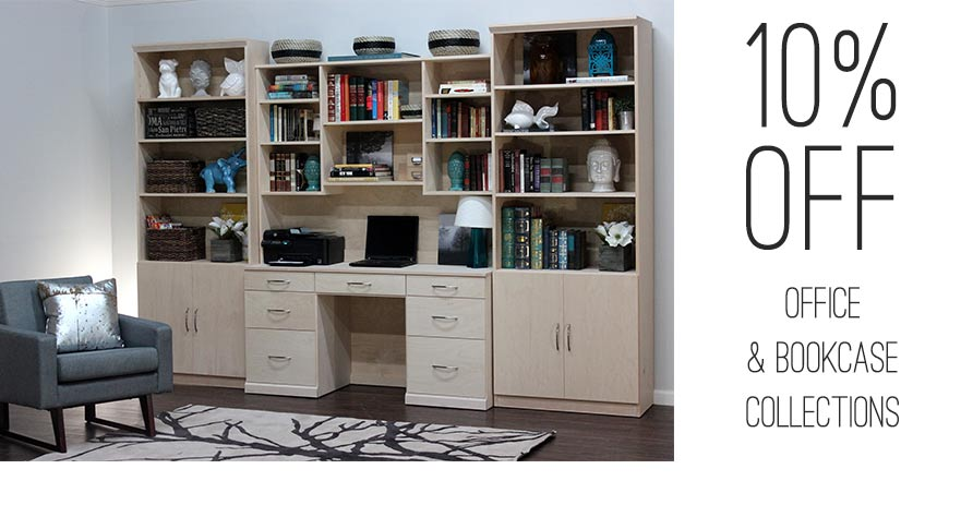 10 OFF BOOKCASE AND OFFICE
