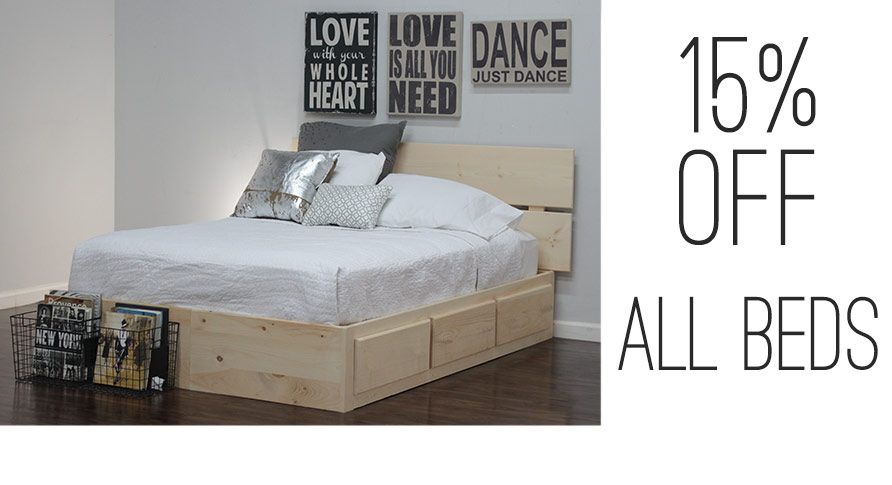 15 OFF ALL BEDS