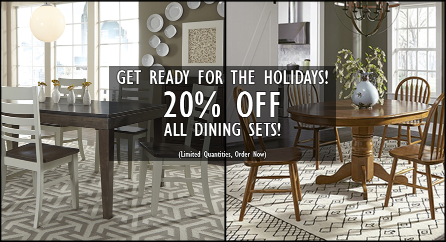 20% OFF ALL DINING SETS