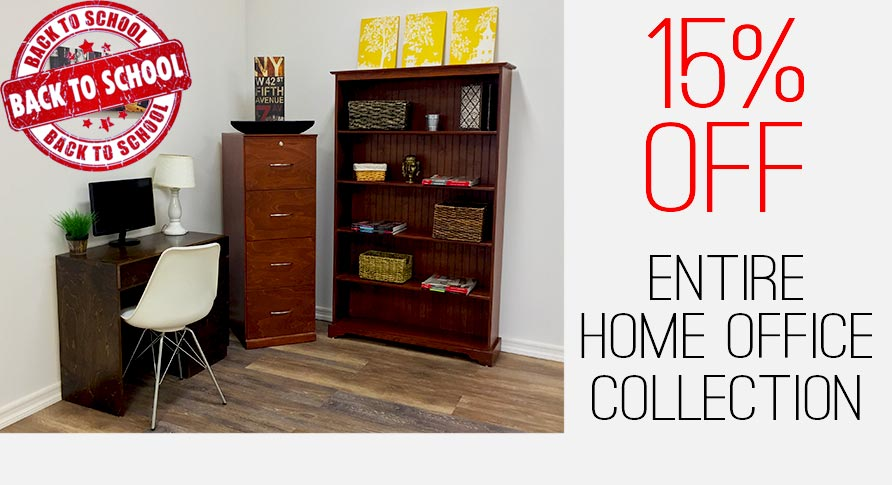 20% OFF BOOKCASES AND FILE CABINETS BACK TO SCHOOL SPECIAL