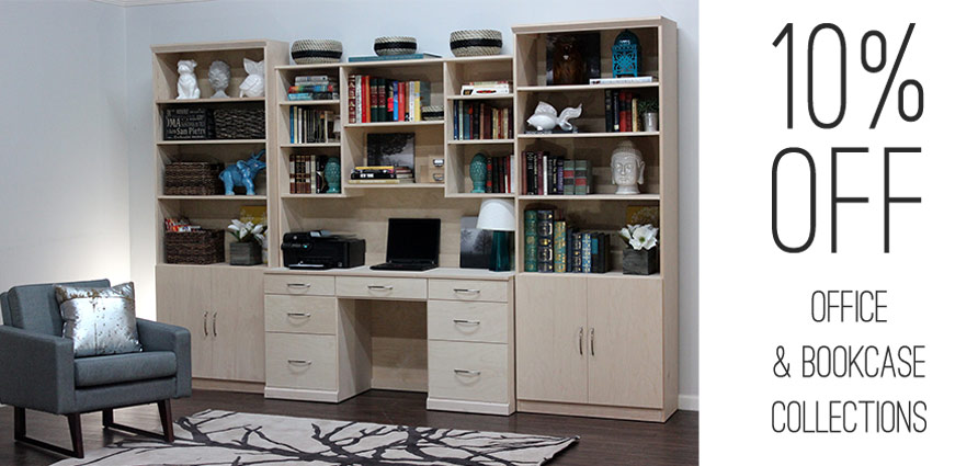 10% OFF OFFICE & BOOKCASES