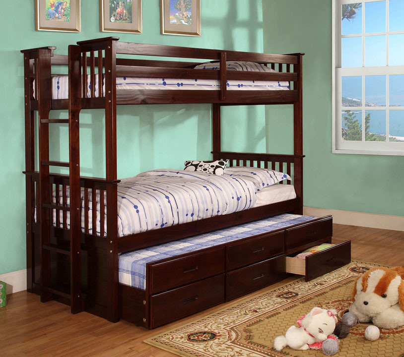 twin twin bunk bed with trundle u0026 drawers