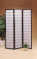 Japanese Style 3 Panel Screen In Black