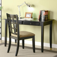 Plymouth Desk and Chair BLACK