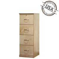 Flat Iron File Cabinet with 4 Drawers