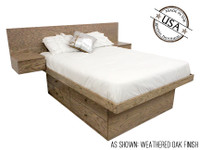 Headboard Sold Separately. Shown in a Weathered Oak Finish