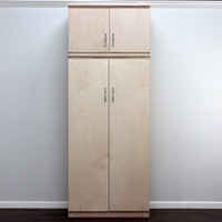 Flat Iron Wardrobe, With Storage Top