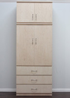 Flat Iron Armoire, w/ Storage Top