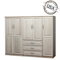 Raised Panel Wall Closet System 3 Piece Set