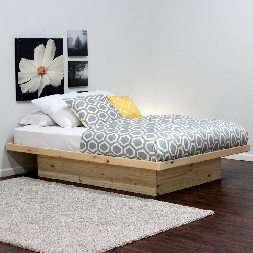 Queen Platform Bed In Pine