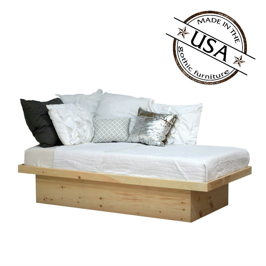Twin Platform Bed In Pine Gothic Furniture