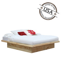 King Platform Bed in Pine