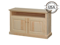 "Two Door Open Shelf TV Stand 48"" wide"