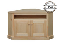 Two Door Open Shelf Corner TV Stand
