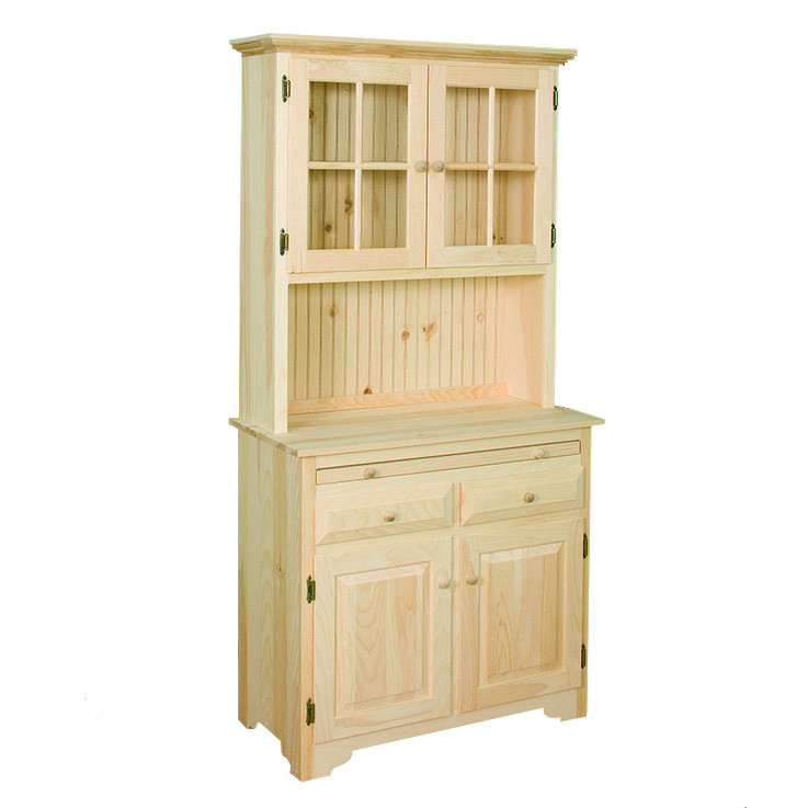 Country Kitchen Hutches: Country Kitchen Server With Hutch