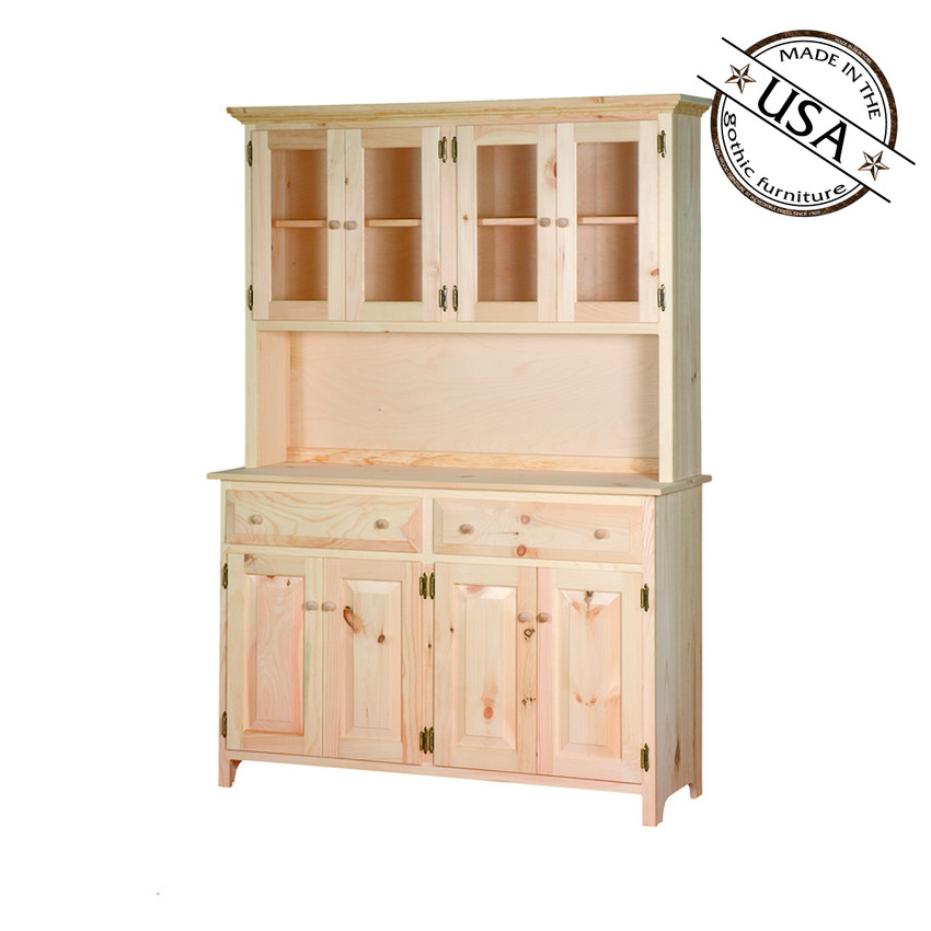 large kitchen buffet server and hutch rh gothiccabinetcraft com buffet server with hutch white Buffet Hutches and Cabinets