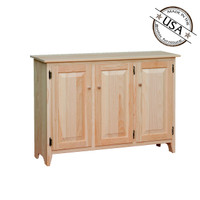 Sideboard With 3 Raised Panel Doors