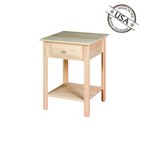 Square Table with Drawer
