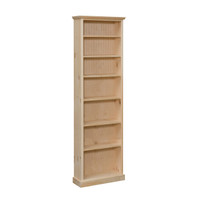 craft kitchen cabinets bookcase with 5 adjustable shelves and 1 fixed 20 quot wide 14169