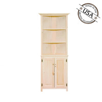Two Door with Shelving Corner Cabinet