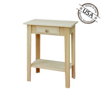 Shaker End Table With Drawer