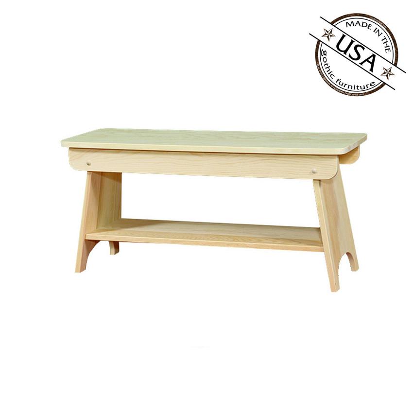 Bench With Shelf 36 Wide