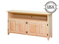 American Pride Raised Panel Four Door TV Stand