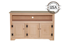 "TV Console with 3 Raised Panel Doors 50.5"" Wide"