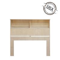 """Full / Queen Bookcase Headboard (46"""" High) in Oak"""