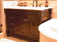 CUSTOM - Dark Stained Vanity