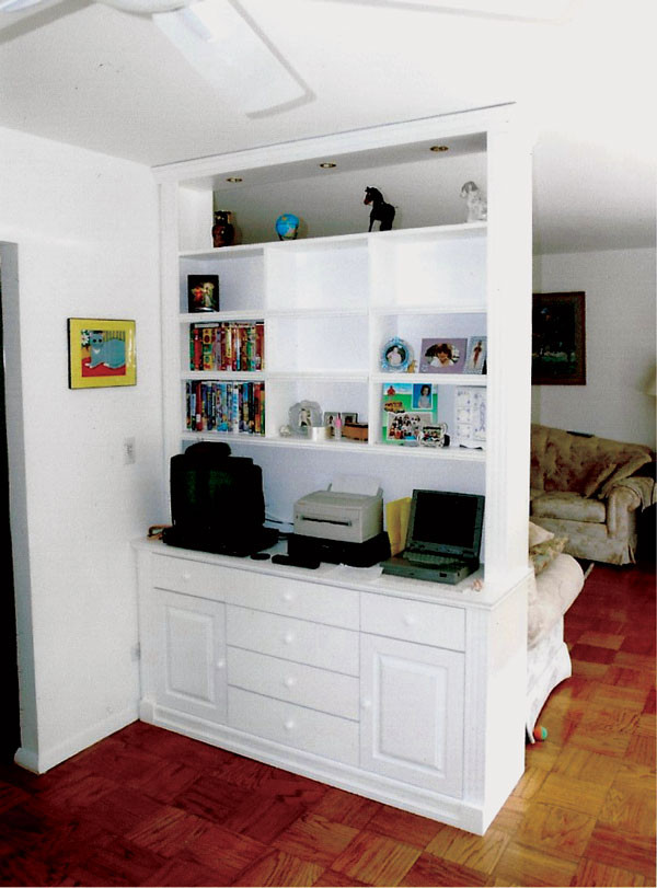 CUSTOM MADE - White Bedroom Wall Unit